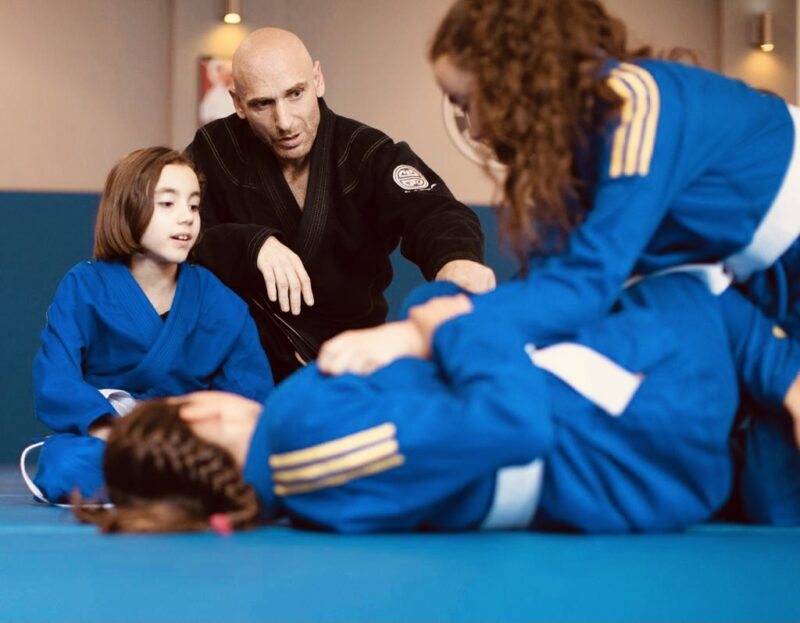 Children learning at the SQ Combat Academy